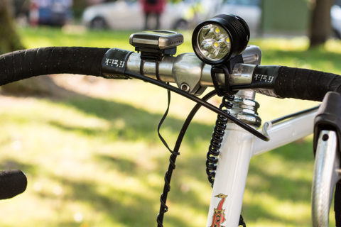 Racingbike with a ØM3 bicycle light