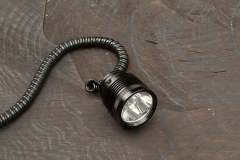 Bicycle head lamp ØM3 with spiral cable