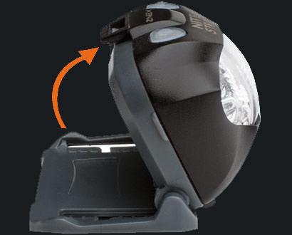 Stirnlampe Nitestrøm mit 45° Neigungswinkel