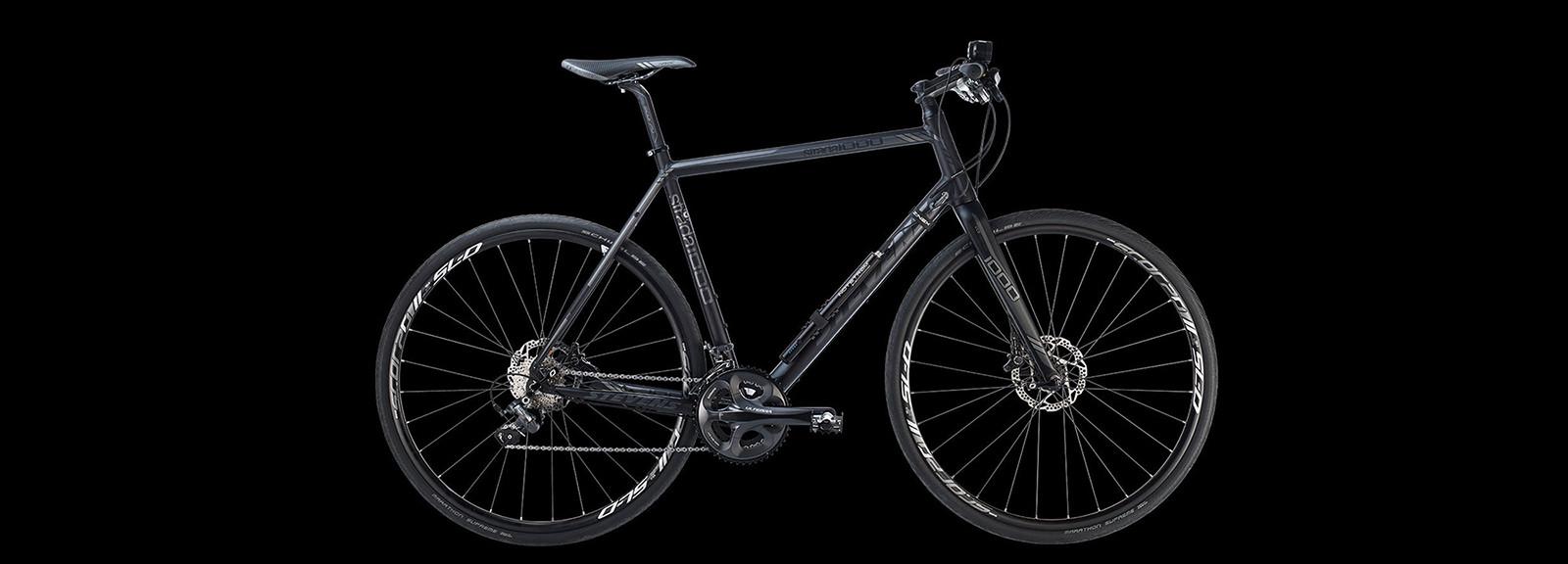Seitenansicht eines Fahrrads mit montierter Notstrøm USB Powerbank
